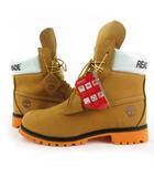 レディメイド READYMADE timberland ティンバーランド ブーツ 6 IN PREMIUM BOOT 0A246K ヌバック レザー ベージュ オレンジ 9W 27cm 靴 付属品あり