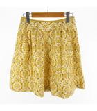 マッキントッシュフィロソフィー MACKINTOSH PHILOSOPHY ひざ丈 スカート 花柄 フラワー 黄色 イエロー 白 ホワイト コットン ボトムス 36