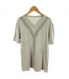 Tシャツ 半袖 Vネック フロッキー デザイン グレー コットン 48 トップス 11SS ここのえ株式会社
