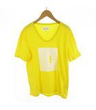 Tシャツ 半袖 パズル 黄色 イエロー 白 ホワイト コットン 46 13SS (株)スタッフインターナショナルジャパン