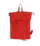 ツモリチサトキャリー tsumori chisato carry リュックサック デイパック トートバッグ 2WAY スタッズ ナイロン レッド 赤 ゴールド 鞄