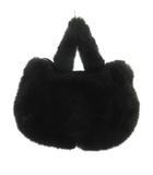 ツモリチサト TSUMORI CHISATO ハンドバッグ フェイクファー もこもこ 黒 ブラック 鞄