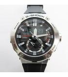 カシオ CASIO 腕時計 ウォッチ G-STEEL Gスチール アナログ 電波ソーラー GST-B200-1AJF シルバー ブラック 黒