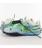 ナイキ NIKE OFF-WHITE オフホワイト WAFFLE RACER/ワッフルレーサー スニーカー CD8180-400 US8.5 25.5cm/US7 25cm ブルー グリーン 靴