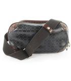 アニアリ aniary ショルダーバッグ 斜めがけ セカンドバッグ 2WAY 総柄 PVC レザー 黒 ブラック 茶 ブラウン 鞄