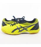 アシックス asics フットサルシューズ トレシュー CALCETTO TST327 イエロー ネイビー 黄色 紺 US9 1/2 27.5cm 靴