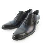 ランバン LANVIN COLLECTION コレクション ビジネスシューズ ストレートチップ 外羽根 83305  ブラック 黒 ネイビー 紺 25cm 革靴