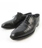 クロケット&ジョーンズ CROCKETT&JONES ストレートチップ レザーシューズ ビジネス RADSTOCK 9859 黒 ブラック 6E 約24.5cm 革靴