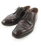 オールデン ALDEN レザー シューズ Cordovan Split Toe Blucher コードバン 馬革 ダークブラウン 茶 1198 8D 約26cm ビジネス 革靴