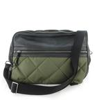 モンクレール MONCLER ショルダーバッグ メッセンジャーバッグ 斜め掛け キルティング 中綿 レザー ナイロン オリーブ ブラック 黒 緑 鞄