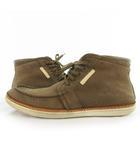ルイヴィトン LOUIS VUITTON スニーカー シューズ MID スエード 茶 ブラウン スエード レザー 靴 8 1/2 約26.5cm