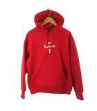 シュプリーム SUPREME パーカー スウェット プルオーバー Cross Box Logo Hooded Sweatshirt クロス ボックスロゴ 赤 レッド M 20AW (株)Supreme