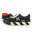 オフホワイト OFF WHITE スニーカー ローカット アロー ロゴ バイアス キャンバス 黒 ブラック 白 ホワイト オレンジ 41 約26cm 靴