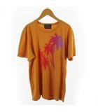 ロンハーマン ヴィンテージ  R.H.vintage Tシャツ 半袖 パームツリー ヤシの木 ロゴ コットン オレンジ レッド M トップス