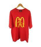 半袖 Tシャツ マクドナルド スカル プリント オーバーサイズ 20182229 赤 レッド XL