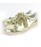 スニーカー シューズ  ローカット ゴールド レザー 43 約28cm 靴