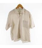 アーバンリサーチ URBAN RESEARCH シャツ 半袖 オーバーサイズ ライトブラウン系 茶 コットン シルク M
