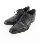 ビジネスシューズ ストレートチップ レザー 黒 ブラック 26.5cm 革靴