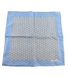 エルメス HERMES カレ45 プチカレ ハンカチ スカーフ 総柄 シンボル ブルー系 青 シルク100% 美品