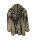 サガフォックス SAGA FOX コート 膝丈 ミドル 毛皮 フォックスファー シルバー 銀サガ グレー系 ブラウン系 裏地刺繍 11号 アウター