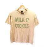 ナンバーナイン NUMBER (N)INE Tシャツ カットソー 半袖 プリント ベージュ 2 M NVW