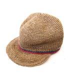 カシラ CA4LA 帽子 アグール TAF00001 天然草木 バイカラー ベージュ ネイビー ワンサイズ SSS8