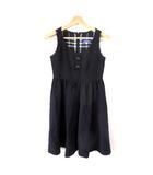 バーバリーブルーレーベル BURBERRY BLUE LABEL ワンピース ジャンパースカート ひざ丈 黒 ブラック 36 M SSS8