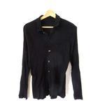 ツモリチサト TSUMORI CHISATO シャツ 長袖 デザインボタン 黒 ブラック 2 M SSS8