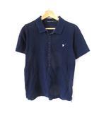 ツモリチサト TSUMORI CHISATO ポロシャツ 半袖 ラインストーン 刺繍 ネイビー 1 M SSS8