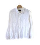 ツモリチサト TSUMORI CHISATO シャツ 長袖 ラメゴールド刺繍 白 ホワイト 1 S SSS8