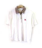 バーバリーズ Burberrys ポロシャツ 半袖 襟ノバチェック 白 ホワイト M
