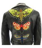 グッチ GUCCI 18AW Insect Biker Jacket ライダースジャケット バイカー ラムレザー 革ジャン スタッズ バック刺繍 黒 ブラック 40 約M~L 国内正規 490551 IBS70