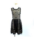 レッド ヴァレンティノ RED VALENTINO コントラストレースワンピース ドレス 黒 ブラック ベージュ 40 M 国内正規 IBS70