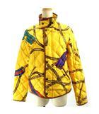 ラルフローレン RALPH LAUREN 美品 ダウンジャケット コート 総柄 黄色 イエロー M ECR
