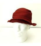 ジャックルコー JACQUES LE CORRE 帽子 サファリハット フランス製 赤 レッド