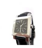ブルガリ BVLGARI 腕時計 SQ22SL クアドラート レザーベルト スイス製 黒文字盤 ステンレススチール シルバー