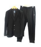 カジュアルスーツ ジャケット パンツ 上下 セットアップ 黒 ブラック 3 Mサイズ位 ウエスト82 0330
