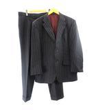 スーツ セットアップ ジャケット パンツ ストライプ 総裏地 2B 056 XL 紺 ネイビー IBO7