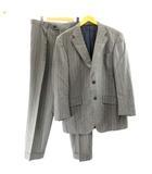 スーツ セットアップ ジャケット パンツ ストライプ ウール 053 XL ライトグレー IBO7