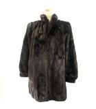 ミンクコート 毛皮コート BLACKGLAMA ブラックグラマ 11 高級 Fabian ファー ブラウン