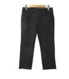 プラダスポーツ PRADA SPORT パンツ クロップド 7分丈 七分丈 裏毛 黒 ブラック 38 Sサイズ相当 ナイロン X