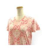 グッチ GUCCI GGゴースト Tシャツ カットソー 半袖 ピンク S 432086 ECR7