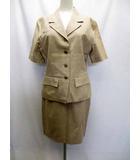 Bell Marian スーツ スカート キュロット 3点 半袖 ひざ丈 ベージュ 9