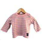 ムージョンジョン moujonjon Tシャツ カットソー ボーダー柄 ピンク系 70