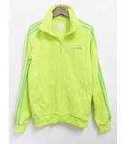 アディダス adidas ジャージ  パーカー ジャケット 長袖 ジップアップ コットン 緑 S
