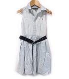ポロ バイ ラルフローレン Polo by Ralph Lauren ワンピース ノースリーブ ベルト付き 水色系 120
