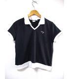 ダナキャランニューヨーク DKNY ポロシャツ カットソー Ⅴネック 半袖 ネイビー系 L