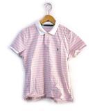ラルフローレン RALPH LAUREN ポロシャツ カットソー ボーダー柄 半袖 ピンク系  L