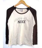 ナイキ NIKE Tシャツ カットソー ラグランスリーブ ロゴ 長袖 茶系 XL
