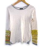 キューブシュガー CUBE SUGAR Tシャツ カットソー 長袖 ライトグレー系 M
